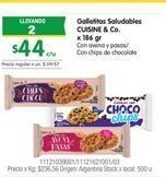 Oferta de Galletas saludables CUISINE & CO por $44