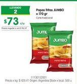 Oferta de Papas fritas congeladas Jumbo por $73
