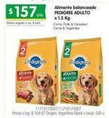 Oferta de Alimento para perros Pedigree por $157