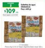 Oferta de Galletas GRANAGUA por $109