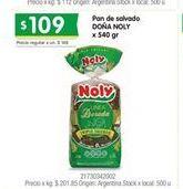 Oferta de Pan de molde Doña Noly por $109