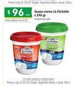 Oferta de Queso crema La paulina por $96