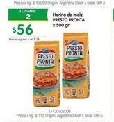 Oferta de Harina de maíz Presto Pronta por $56