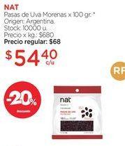 Oferta de Pasas de Uva Morenas x 100 gr. por