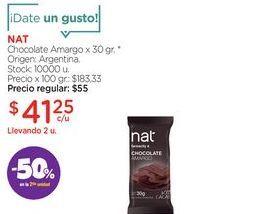 Oferta de Chocolate Amargo x 30 gr. por