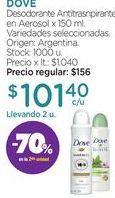 Oferta de Desodorante Antitrasnpirante en Aerosol x 150 ml. por