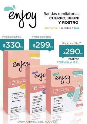 Oferta de Bandas depilatorias para Rostro x 12 Unid. por