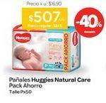 Oferta de Pañales Natural Care RN Talle P Unisex x 50 Unid. por