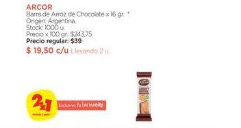 Oferta de Barra de Arróz de Chocolate x 16 gr. por
