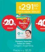 Oferta de Pañales Supersec Megapack por