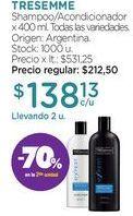 Oferta de Shampoo/Acondicionador x 400 ml. por