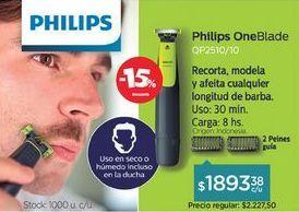 Oferta de Afeitadora One Blade Qp2510 por
