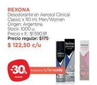Oferta de Desodorante en Aerosol Clinical Classic x 110 ml. por