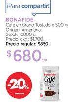 Oferta de Cafe en Grano Tostado x 500 gr. por