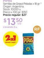 Oferta de Semillas de Girasol Peladas x 18 gr. por