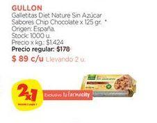 Oferta de Galletitas Diet Nature Sin Azúcar Sabores Chip Chocolate x 125 gr. por
