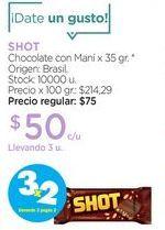 Oferta de Chocolate con Maní x 35 gr. por