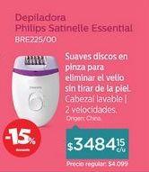 Oferta de Depiladora Eléctrica Satinelle Essential BRE225/00 por