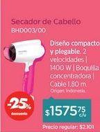 Oferta de Secador de Pelo BHD003 por