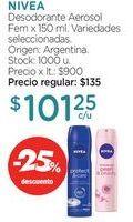 Oferta de Desodorante Aerosol Fem x 150 ml. por