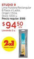 Oferta de Lima Pulidora Rectangular 8 Pasos 4 Lados. por