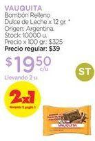Oferta de Bombón Relleno Dulce de Leche x 12 gr. por
