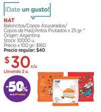 Oferta de Baloncitos/Copos Azucarados/Copos de Maiz/Aritos Frutados x 25 gr. por