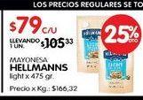 Oferta de Mayonesa Hellmann's por $105,33