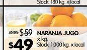 Oferta de Naranjas para jugo por $49