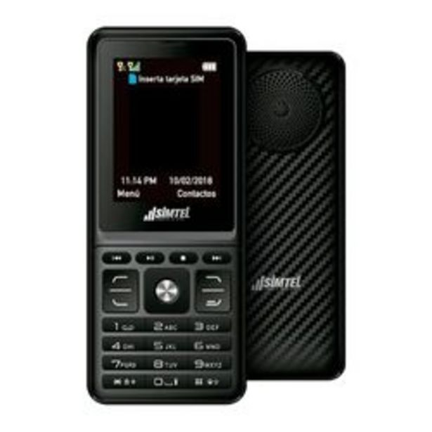 Oferta de Celular Feature Phone Simtel 4400 Express Music Negro por $4,499
