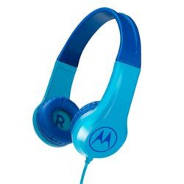 Oferta de Auriculares PC 3.5 mm Motorola  Squad flexible  para chicos  200bl Celeste por $2,099