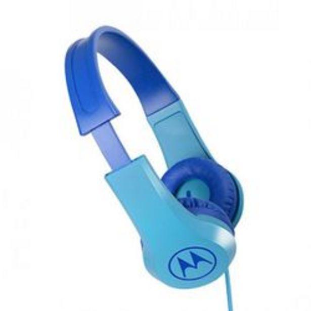 Oferta de Auriculares para Celular 3.5 mm Motorola SQUADS 200 Celeste por $2,289