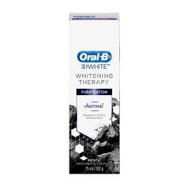 Oferta de Crema Dental Oral B 3D White Charcoal Menta Fresca 75 Ml. por $280