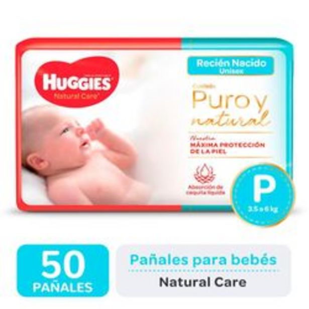 Oferta de Pañales Huggies Natural Care P 50 Unidades por $790
