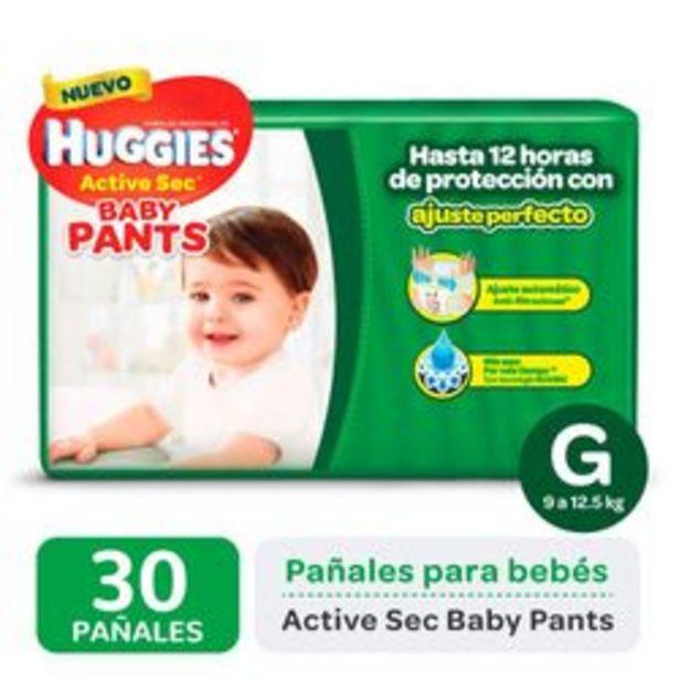 Oferta de Pañales Huggies Active Sec Baby Pants G 30 Unidades por $679