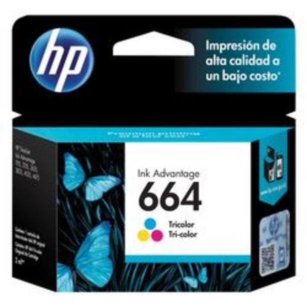 Oferta de Cartucho de Tinta HP 664 Tricolor por $1,549