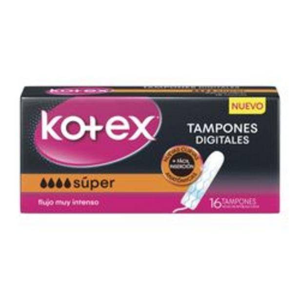 Oferta de Tampones Kotex Tampones Digitales Talle Super por 16 U. por $236