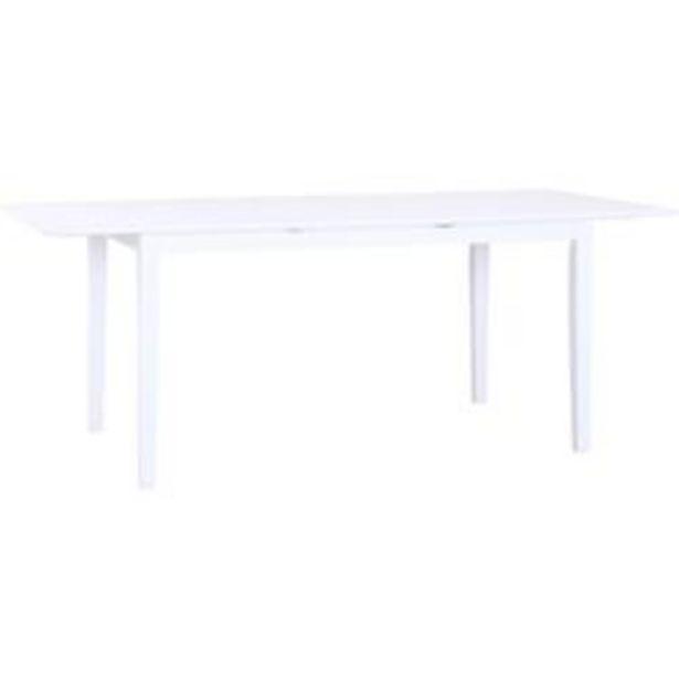Oferta de Mesa de Madera Moderna Florencia Blanco 150 x 90 CM Corfam por $26,886