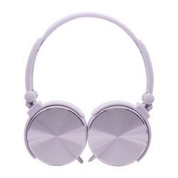 Oferta de *Auriculares 3.5 mm Noblex HP107WS Blanco y Gris por $1,799