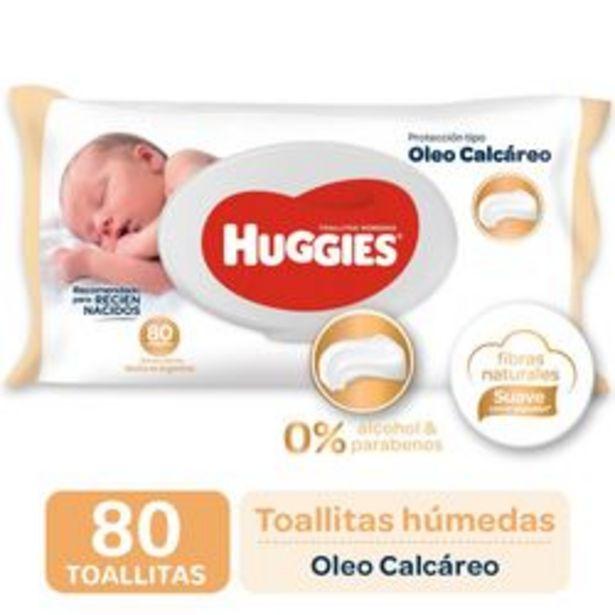 Oferta de Toallitas Húmedas Huggies Oleo Calcáreo Deluxe 80 Unidades por $399