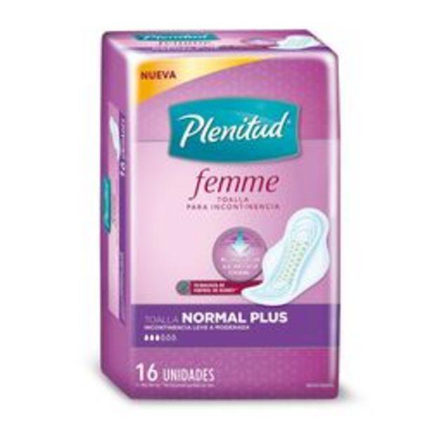 Oferta de Toallitas Femeninas Plenitud Normal Plus Femme Talle Único por 16 U. por $272