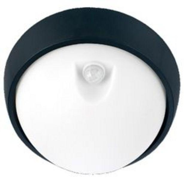 Oferta de Aplique de Pared LED Artelum Lisa con sensor 15 W. 26 x 26 Cm. Negro 1 U. por $2,356