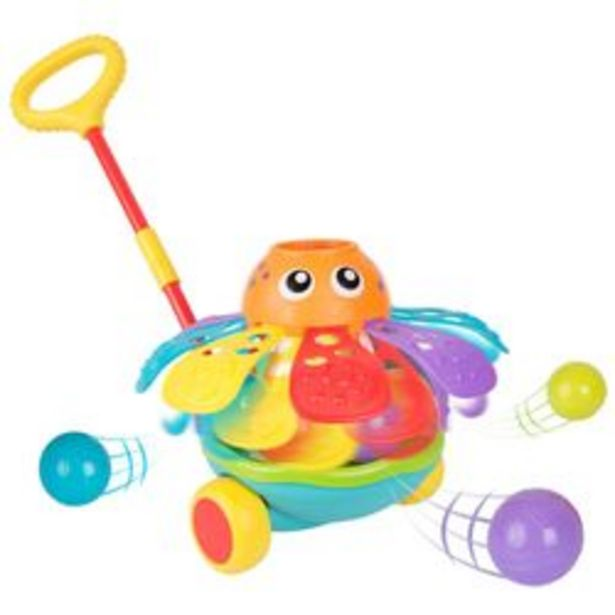 Oferta de Juego de Encastre Push Along Ball Popping Octopus Playgro 5 Piezas por $4,279