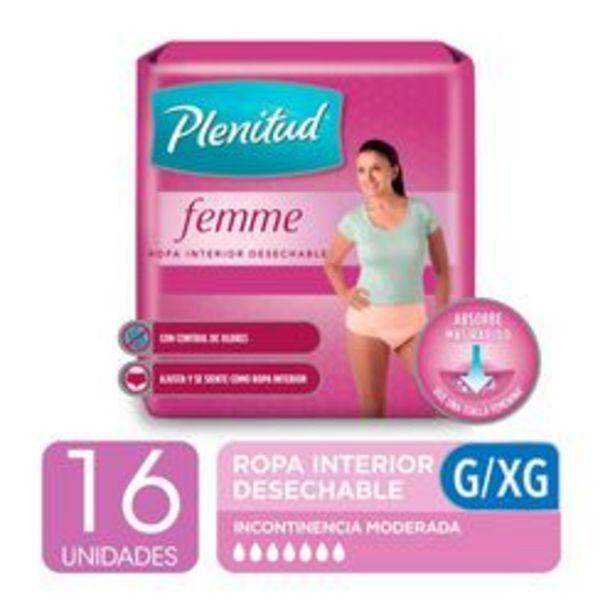 Oferta de Ropa Interior Femenino Plenitud Femme 16 U. Grande/Extra Grande por $1,143