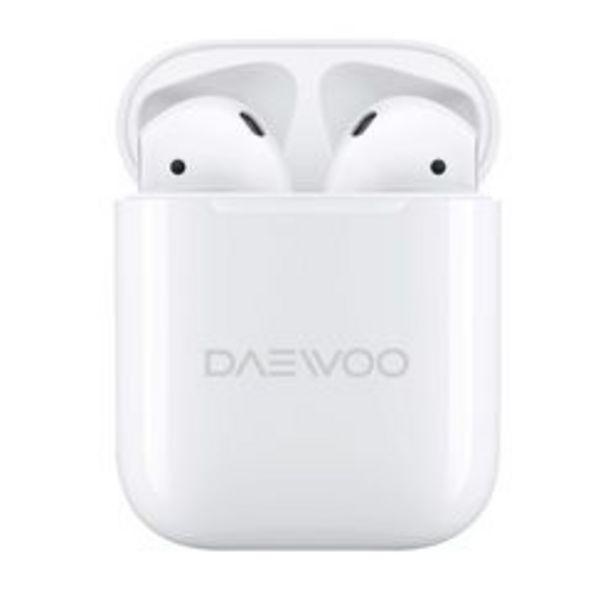 Oferta de Auriculares Audio Inalámbrico Daewoo DW-307HB-BL Blanco por $1,799