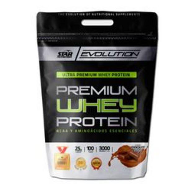 Oferta de Proteína Concentrada Star Nutrition Premium Whey  Chocolate 3 Kg. por $3,445