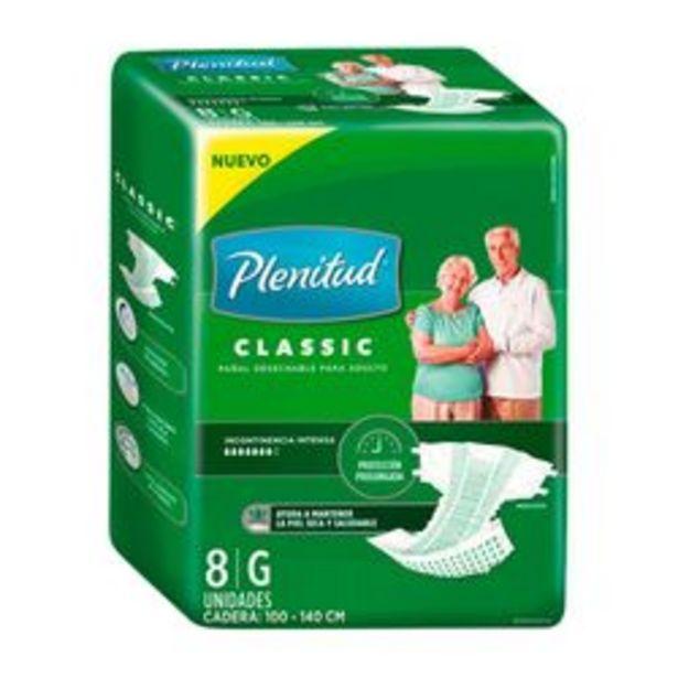 Oferta de Pañales para Adultos Unisex Plenitud Classic 8 U. Grande por $258