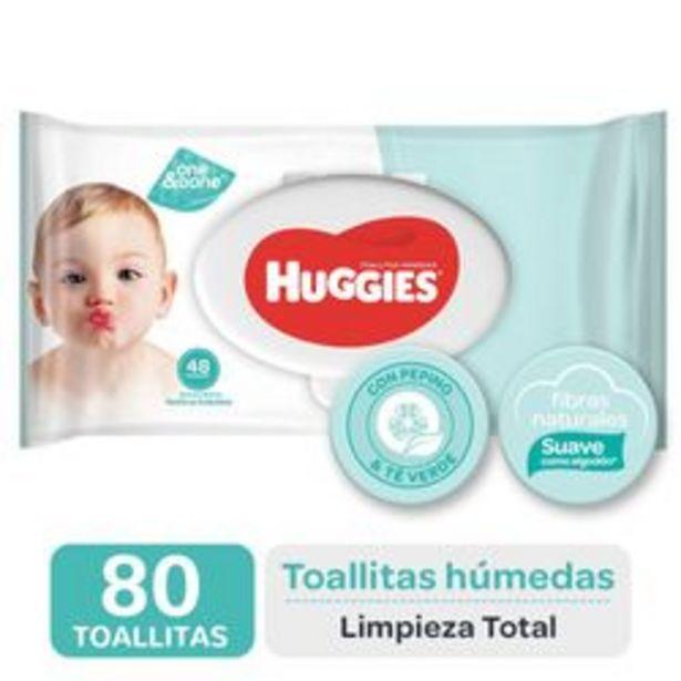 Oferta de Toallitas Húmedas Huggies Limpieza Total 80 Unidades por $326