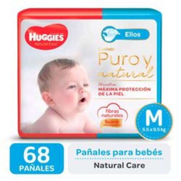 Oferta de Pañales Huggies Natural Care para Ellos M 68 Unidades por $1,416