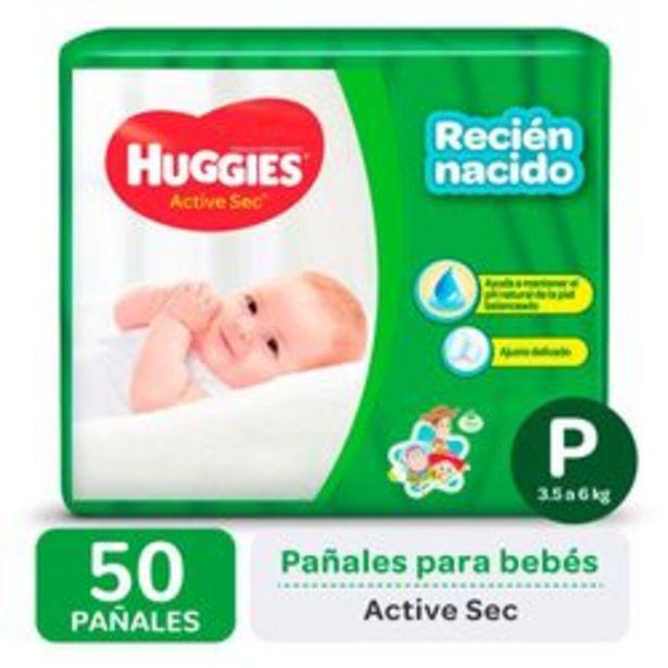 Oferta de Pañales Huggies Active Sec P 50 Unidades por $672